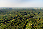Nederland, Flevoland, Zeewolde, 23-08-2016; Horsterwold met De Stille Kern, nieuw aangelegd bos in Flevoland<br /> Horsterwold, newly designed forest in the new polder Flevoland.<br /> aerial photo (additional fee required);<br /> copyright foto/photo Siebe Swart