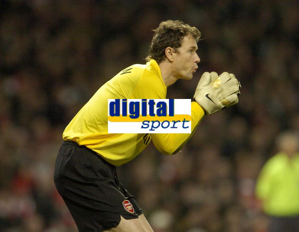 Photo: Olly Greenwood.<br />Arsenal v PSV Eindhoven. UEFA Champions League. Last 16, 2nd Leg. 07/03/2007. Arsenal's Jens Lehmann