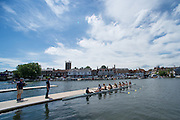 Henley. Great Britain.  General View, Boating Area. University of California, Berkeley, USA  boating for their afternoon heat in the Ladies Challenge Plate  175th  Henley Royal Regatta, Henley Reach. England. 14:08:32  Friday  04/07/2014. [Mandatory Credit; Peter SPURRIER/Intersport-images]