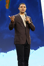 Trevor Noah speaks during the Bill and Melinda Gates foundation's Goalkeepers 2017 at Jazz at Lincoln Center in New York.