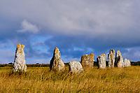 France, Finistère (29), Cornouaille, Presqu'île de Crozon, Camaret-sur-Mer, les Alignements de Lagatjar ou Alignement mégalithique du Toulinguet // France, Finistere (29), Cornouaille, Crozon peninsula, Camaret-sur-Mer, the Lagatjar alignments or megalithic alignment of Toulinguet