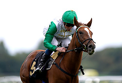 Zebelle ridden by William Buick wins the Anderson Green Nursery at Nottingham Racecourse. Picture date: Wednesday October 13, 2021.