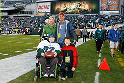 Eagles Youth Partnership Guests on the sideline before the NFL Game between the Indianapolis Colts and the Philadelphia Eagles. The Eagles won 26-24 at Lincoln Financial Field in Philadelphia, Pennsylvania on Sunday November 7th 2010. (Photo By Brian Garfinkel)