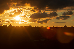 ©Licensed to London News Pictures 09/09/2020  <br /> Orpington, UK. The sun sets over South East London this evening. Weather forecasters predict we will have a hot September heatwave in the coming days. Photo credit:Grant Falvey/LNP