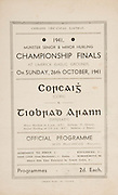 Munster Senior and Minor Hurling Championship Final, .26101941MMHCF..26.10.1941, 10.26.1941, 26th October 1941, ..MInor Cork v Tipperary,