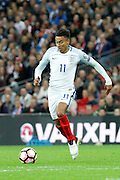 England Midfielder Jesse Lingard gets through on goal during the FIFA World Cup Qualifier match between England and Malta at Wembley Stadium, London, England on 8 October 2016. Photo by Andy Walter.