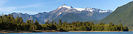 Mount Shuksan from Baker Lake at the Mount Baker-Snoqualmie National Forest in Washington State, USA