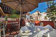 Rooftop dining at La Posadita Restaurant in San Miguel de Allende, Mexico