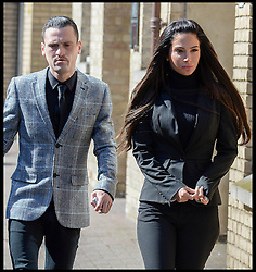 Gareth Varey co defendant with Tulisa Contostavlos arrive at Chelmsford Magistrates Court to give evidence at day two of her assault trial. She is accused of hitting celebrity blogger Savvas Morgan at the V Festival in Chelmsford, Essex, last year. Chelmsford Magistrates Court, Tuesday, 20th May 2014. Picture by Andrew Parsons / i-Images