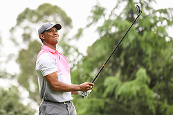 May 5, 2018 - Charlotte, NC, U.S. - CHARLOTTE, NC - MAY 05: Tiger Woods tees off during the 3rd round of the Wells Fargo Championship on May 05, 2018 at Quail Hollow Club in Charlotte, NC. (Photo by William Howard/Icon Sportswire) (Credit Image: © William Howard/Icon SMI via ZUMA Press)