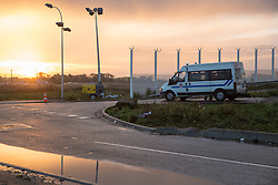 """Calais, Pas-de-Calais, France - 17.10.2016    <br />  <br /> """"Jungle"""" refugee camp on the outskirts of the French city of Calais. Many thousands of migrants and refugees are waiting in some cases for years in the port city in the hope of being able to cross the English Channel to Britain. French authorities announced that they will shortly evict the camp where currently up to up to 10,000 people live."""