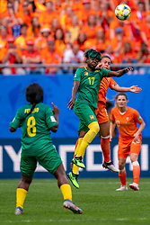 15-06-2019 FRA: Netherlands - Cameroon, Valenciennes<br /> FIFA Women's World Cup France group E match between Netherlands and Cameroon at Stade du Hainaut / Gaëlle Enganamouit #17 of Cameroon, Sherida Spitse #8 of the Netherlands
