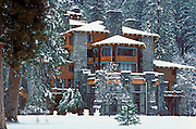 The Ahwahnee Hotel after a winter storm, Yosemite Valley, Yosemite National Park, California