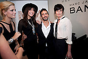 MISCHA BARTON; DAISY LOWE; MARC JACOBS; ERIN O'CONNOR;, Mark Jacobs' Bang' fragrance preview. Harvey Nicholls. London. 22 July 2010. -DO NOT ARCHIVE-© Copyright Photograph by Dafydd Jones. 248 Clapham Rd. London SW9 0PZ. Tel 0207 820 0771. www.dafjones.com.