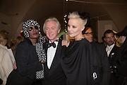 GRACE JONES;  PHILIP TREACY;  DAPHNE GUINNESS, Isabella Blow: Fashion Galore! private view, Somerset House. London. 19 November 2013