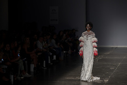 August 29, 2017 - Sao Paulo, Sao Paulo, Brazil - Model presents creation by Vanessa Moe, during the Sao Paulo Fashion Week, N44 Summer 2018 edition, in Sao Paulo, Brazil. (Credit Image: © Paulo Lopes via ZUMA Wire)