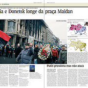 """Tearsheet of """"Kiev protests"""", published in Expresso"""