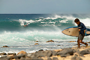 Punta Preta (Black Point) on the island of Sal. Cape Verde - Kiteboarding, windsurfing, and surfing all on the same waves.