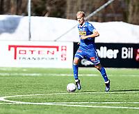 Fotball ,  OBOS-Ligaen<br /> 07.04.19<br /> Nammo Stadion<br /> Raufoss v Sandefjord  0-2<br /> Foto :  Dagfinn Limoseth , Digitalsport<br /> Lars Grorud  , Sandefjord