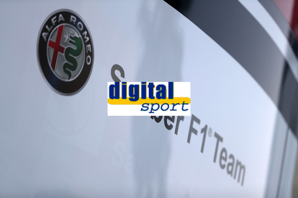 Marchio Alfa Sauber Hospitality<br /> Monza 30-08-2018 GP Italia <br /> Formula 1 Championship 2018 <br /> Foto Federico Basile / Insidefoto