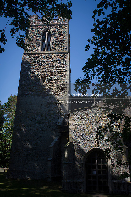 Flint wall architecture of St Michael's Anglican church at Irstead, on the Norfolk Broads.