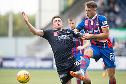 Falkirk's Kevin O'Hara and Inverness Caledonian Thistle's Brad McKay. Half time : Falkirk 0 v 0 Inverness Caledonian Thistle, Scottish Championship game played 14/10/2017 at The Falkirk Stadium.