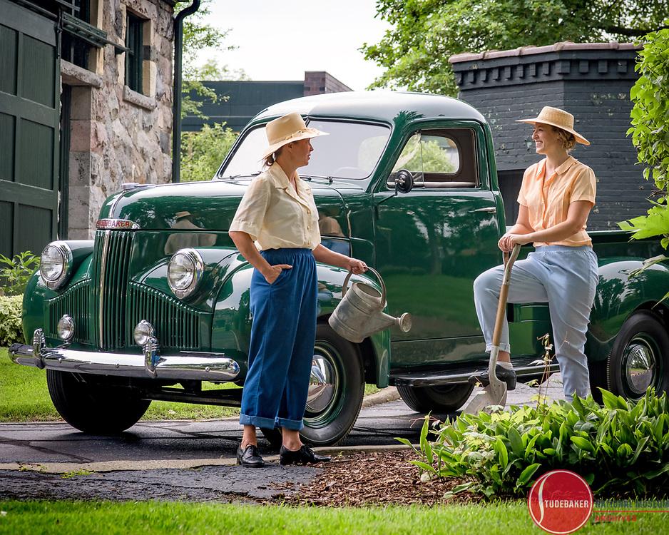 1947 Studebaker M5 pickup truck, Image taken July 11, 2017; Studebaker Calendar (Photo by Matt Cashore)