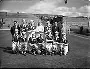 23/05/1953<br /> 05/23/1953<br /> 23 May 1953  <br /> Soccer: Ireland v Wales Schoolboys International at Dalymount Park, Dublin. The Ireland team.