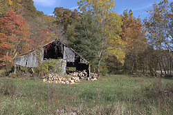 11 Oct 2011: dilapidated barn. Rural Indiana, specifically in or close to Brown County.<br /> <br /> This image was produced in part utilizing High Dynamic Range (HDR) or panoramic stitching or other computer software manipulation processes. It should not be used editorially without being listed as an illustration or with a disclaimer. It may or may not be an accurate representation of the scene as originally photographed and the finished image is the creation of the photographer.