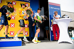 May 20, 2018 - Lillehammer, NORWAY - 180520 Eduard Prades Reverter of Spain and Edvald Boasson Hagen of Norway during the award ceremony after the last stage of the Tour of Norway on May 20, 2018 in Lillehammer..Photo: Jon Olav Nesvold / BILDBYRÃ…N / kod JE / 160254 (Credit Image: © Jon Olav Nesvold/Bildbyran via ZUMA Press)