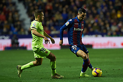 December 16, 2018 - Valencia, Valencia, Spain - Jason Remeseiro of Levante UD and Jordi Alba of FC Barcelona during the La Liga match between Levante UD and FC Barcelona at Ciutat de Valencia Stadium on December 16, 2018 in Valencia, Spain. (Credit Image: © AFP7 via ZUMA Wire)