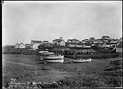 "9707-K210. written on original negative: ""Village at St. Pauls from north CLA"" St. Pauls Island. Pribilof Group. July 11, 1919"