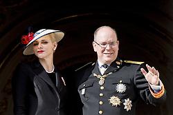 Fürst Albert von Monaco und Ehefrau Fürstin Charlene von Monaco bei den Feierlichkeiten zum Nationalfeiertag in Monaco / 191116<br /> <br /> ***National Day in Monaco, November 19th, 2016***