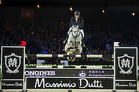Billy Twomey on Ardcolum Duke competes during Massimo Dutti Trophy  at the Longines Masters of Hong Kong on 21 February 2016 at the Asia World Expo in Hong Kong, China. Photo by Juan Manuel Serrano / Power Sport Images