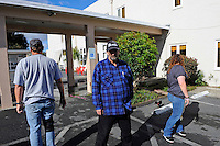 Tom Hunter attends AA meetings held on site at the First United Methodist Church in Salinas, California. Volunteers from the community drive a program that provides meals, counseling resources and occasional shelter to people in need.