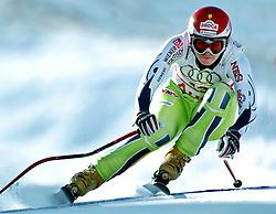 SKI ALPIN: Alpine Ski-WM 2005, Damen, Kombination, Abfahrt, Bormio, 04.02.2005<br />Tina MAZE (SLO)<br />© pixathlon<br />AUSTRIA OUT!