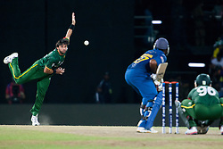 © Licensed to London News Pictures. 04/10/2012. Pakistani Shahid Afridi bowling during the World T20 Cricket Mens Semi Final match between Sri Lanka Vs Pakistan at the R Premadasa International Cricket Stadium, Colombo. Photo credit : Asanka Brendon Ratnayake/LNP