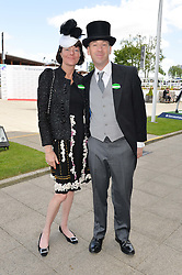 SOPHIA BEDDOW and THOMAS WHITAKER at the Investec Derby 2015 at Epsom Racecourse, Epsom, Surrey on 6th June 2015.
