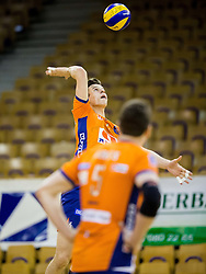 Jan Kozamernik of ACH during volleyball match between ACH Volley and OK Calcit Volleyball in 10th Round of Slovenian National Championship 2014/15, on March 11, 2015 in Arena Tivoli, Ljubljana, Slovenia. Photo by Vid Ponikvar / Sportida