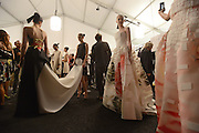 MANHATTAN, NY SEPTEMBER 9, 2014. Fashion designer Carolina Herrera is seen at her fashion show backstage and on the runway during Mercedes Benz Fashion Week at Lincoln Center in Manhattan, NY. 9/9/2014 Photo by Jennifer S. Altman/For The New York Times