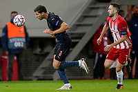 PIRAEUS, GREECE - NOVEMBER 25: Rúben Dias of Manchester City and Kostas Fortounis of Olympiacos FC during the UEFA Champions League Group C stage match between Olympiacos FC and Manchester City at Karaiskakis Stadium on November 25, 2020 in Piraeus, Greece. ((Photo by MB Media)