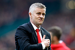 Manchester United caretaker manager Ole Gunnar Solskjaer at the end of the Premier League match at Old Trafford, Manchester.
