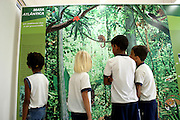 Aimores_MG, Brasil...Alunos da Escola Municipal Santo Antonio do Norte em um Centro de Educacao Ambiental em Aimores, Minas Gerais me...The students of Municipal School Santo Antonio do Norte in Environmental Education Center in Aimores, Minas Gerais...Foto: JOAO MARCOS ROSA / NITRO