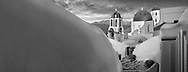 Sacred Stone - Black and white photo art print of blue domed Greek Orthodox churches of Santorini Island Greece by Paul Williams. .<br /> <br /> Visit our LANDSCAPE PHOTO ART PRINT COLLECTIONS for more wall art photos to browse https://funkystock.photoshelter.com/gallery-collection/Places-Landscape-Photo-art-Prints-by-Photographer-Paul-Williams/C00001WetsxVxNTo