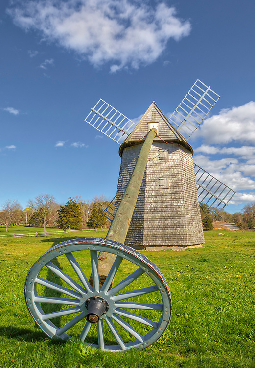 New England photography of the historic Higgins Farm Windmill also known as Brewster Windmill off of Old King's Highway at Drummer Boy Park in Brewster on Cape Cod in Massachusetts. This smock windmill converted wind power into rotational energy.<br /> <br /> Cape Cod Higgins Farm Windmill at Drummer Boy Park photography images are available as museum quality photography prints, canvas prints, acrylic prints, wood prints or metal prints. Fine art prints may be framed and matted to the individual liking and decorating needs.:<br /> <br /> https://juergen-roth.pixels.com/featured/higgins-farm-windmill-at-drummer-boy-park-juergen-roth.html<br /> <br /> Good light and happy photo making!<br /> <br /> My best,<br /> <br /> Juergen