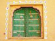 Painted window, Amber, Rajasthan.