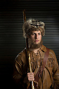 DALLAS, TX - JULY 21:  Mountaineer, the mascot for the University of West Virginia, poses for a portrait during the Big 12 Media Day on July 21, 2014 at the Omni Hotel in Dallas, Texas.  (Photo by Cooper Neill/Getty Images) *** Local Caption *** Mountaineer