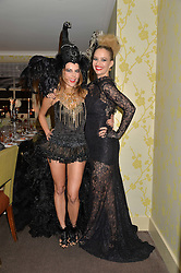 Left to right, JULIET ANGUS and MARISSA HERMER at the Bumpkin Halloween Dinner hosted by Marissa Hermer held at Bumpkin, 119 Sydney Street, London on 23rd October 2014.