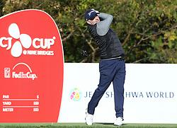 Oct 18, 2018-Jeju, South Korea-Rod Pampling of Australia action on the 3th tee during the PGA Golf CJ Cup Nine Bridges Round 1 at Nine Bridges Golf Club in Jeju, South Korea.