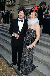 MARK STEWART and his wife ANNE STEWART at The Animal Ball in aid of The Elephant Family held at Lancaster House, London on 9th July 2013.